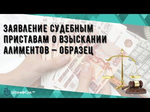 Заявление судебным приставам о взыскании алиментов — образец