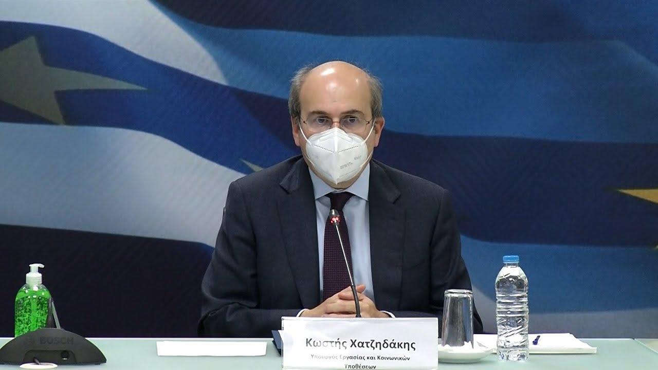 Κ. Χατζηδάκης:  Διατηρούμε σε ισχύ τις προστατευτικές ρυθμίσεις για εργαζόμενους και ανέργους