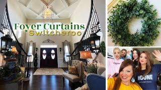 New Foyer Curtains | Spring Decorating | Teenage Motivation Cleaning