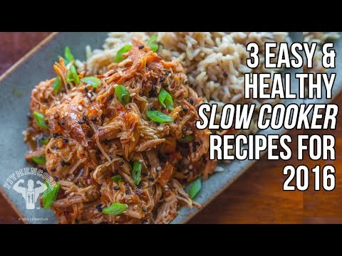 Video 3 Healthy Slow Cooker Recipes for 2016 / 3 Recetas Hacer en Olla de Cocción Lenta