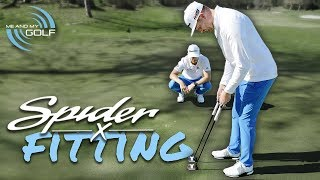 WE GOT FITTED FOR THE NEW SPIDER-X PUTTER!   ME AND MY GOLF
