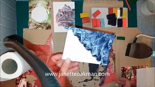 An Experiment With Encaustic Art And Brusho Paints With Artist Janette Oakman  - Tutorial