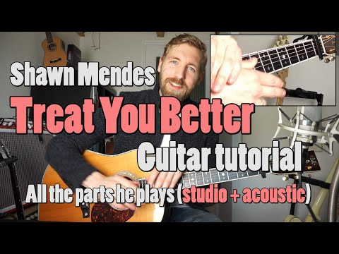 Download Shawn Mendes - Treat You Better | Guitar Tutorial | Chords/strumming + Tabs Mp4 HD Video and MP3