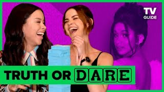 Good Troubles Maia Mitchell And Cierra Ramirez Play Truth Or Dare Jenga