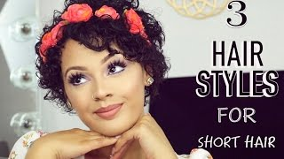 3 SHORT HAIR FRIENDLY HAIRSTYLES/ WASH DAY Ft. Shea Moisture | Viva_Glam_Kay