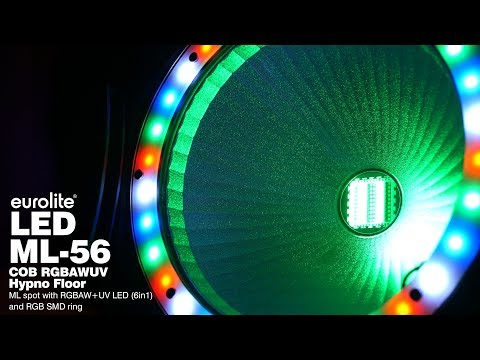 EUROLITE LED ML-56 COB RGBAWUV Hypno Floor bk