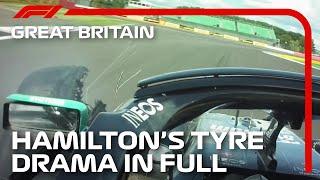 Lewis Hamilton's Tyre Drama In Full, With Radio | 2020 British Grand Prix