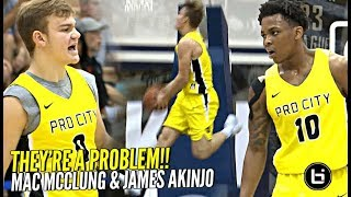 College Mac McClung Is CRAZY!! Mac & James Akinjo GIVING THESE PROBLEMS at Nike Pro City!!