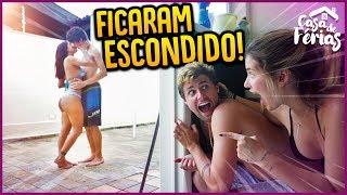 ESPIONAMOS O CASAL BEIJANDO ESCONDIDO!!   CASA DE FÉRIAS #16 [ REZENDE EVIL ]