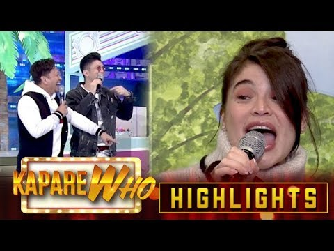 Vhong and Jhong laugh hard after Anne stuttered | It's Showtime KapareWho