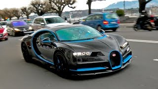 $3.5Million Full Carbon Arab BUGATTI Chiron arrives in Geneva!