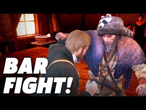 Red Dead Redemption 2 – Drunken Bar Fight Gameplay