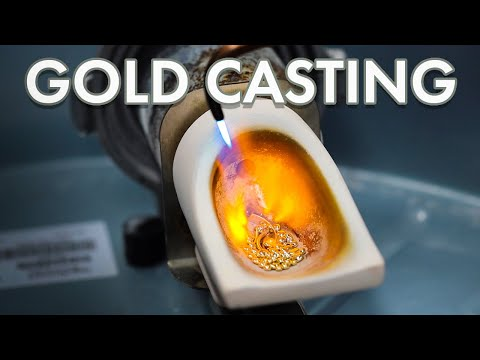 Casting Gold Rings Using A Centrifuge