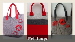 Beautiful Styles Of Felt Hand Bags Designs