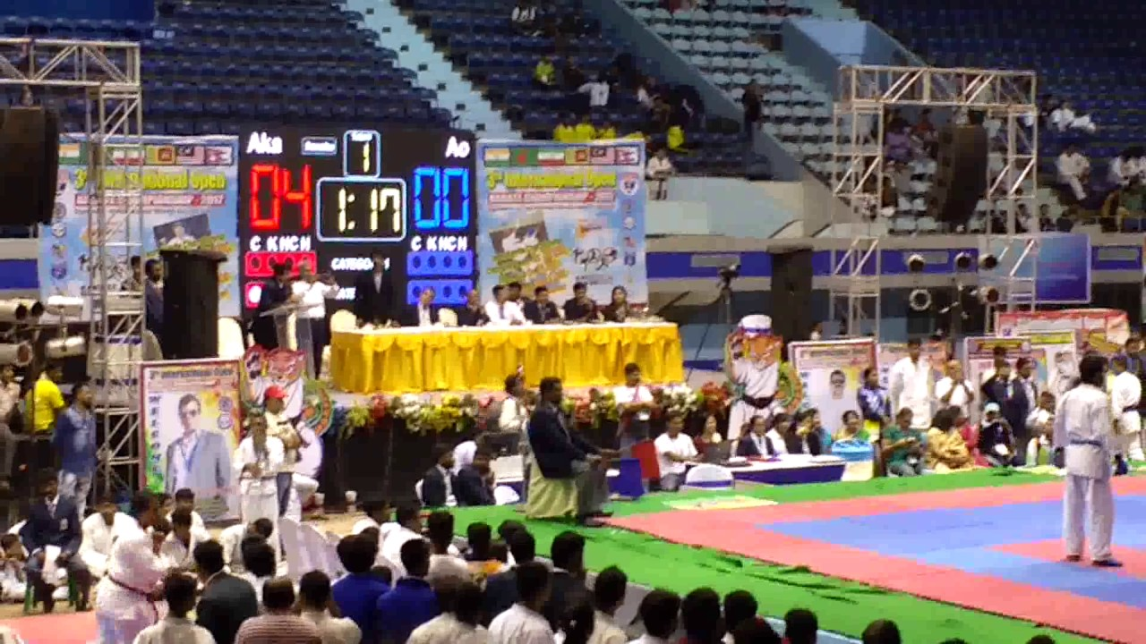 3rd International Open Karate Championship-2017 at Netaji Indoor Stadium, Kolkata