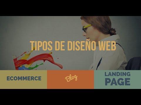 Tipos de diseños web - Landing page, one page, blog, ecommerce