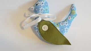 Make A Spring  Bird  Sewn From Fabric - DIY Crafts - Guidecentral