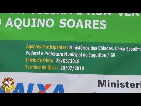 Placa da Obra da Rua Vereador João Aquino Soares