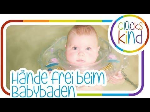Hände frei beim Babybaden | Babyswimmer | Das Glückskind | Messebericht Babywelt  # BabyBlog