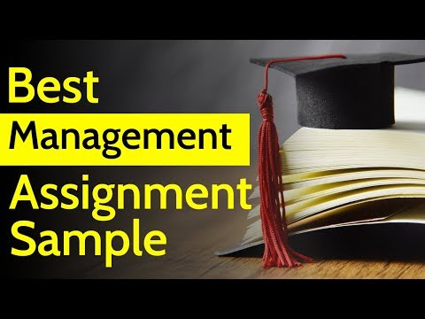 Best Management Assignment Example   How to write Management Assignment