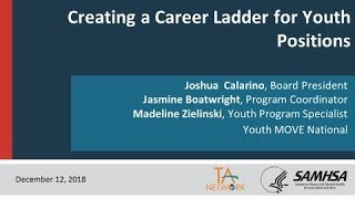 Creating a Career Ladder for Youth Positions