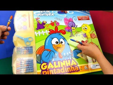 Kit De Atividades e Pintura Da Galinha Pintadinha Toy Cake Tia Fla