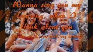 ABBA - Gonna Sing You My Lovesong with Lyrics