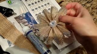 Flores De Yute/Rafia Para Decoraciones De Navidad🎅🎄🎁/Burlap Flowers