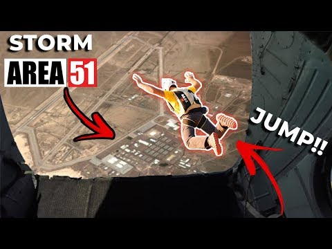 Storming Area 51 With a Parachute