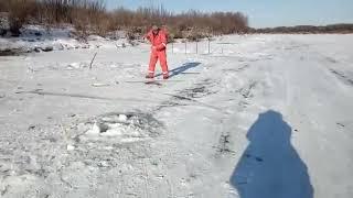 """Зимняя рыбалка на реке""""Амур"""""""