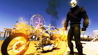 GTA 5 Mods - AMAZING GHOSTRIDER MOD! FIRE MOTORCYLE & FIRE WEAPONS! (GTA 5 Mods)