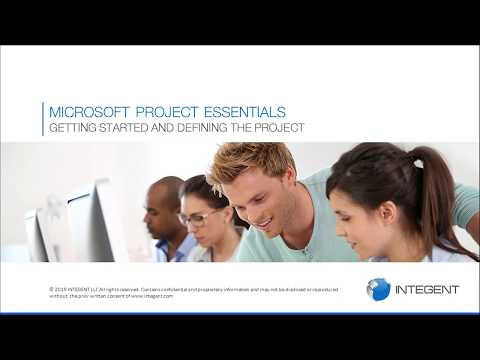 Microsoft Project Training - Module 01 & 02: Getting Started ...