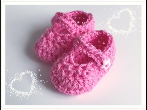 SUPER EINFACHE Babyschuhe häkeln für Mädchen und Jungen
