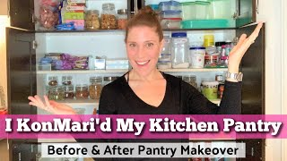 KonMari Method Kitchen Pantry Declutter & Reorganization