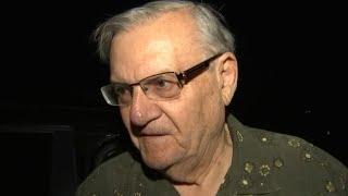 Former Maricopa County Sheriff Joe Arpaio reacts to his pardon