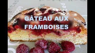 Un gâteau aux framboises