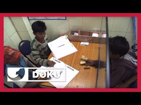 Die Kinderbank inmitten der Slums von Delhi | Doku