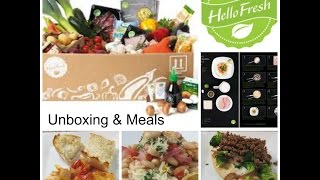 Hello Fresh Unboxing & Meals + Promo Code!