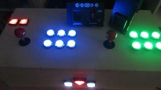 Arcade-Cabinet Selbstgebaut Teil 3 - Münzeinwurf, LED-beleuchtete Arcade - Buttons