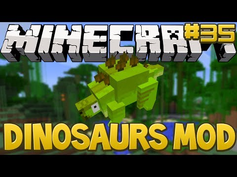 Minecraft Walkthrough - Dinosaurs Mod (Fossils and