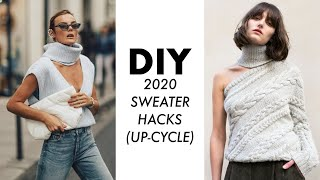 DIY: 2020 Sweater HACKS! (Up-Cycle) -By Orly Shani