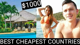 Top 5 Cheapest Countries to TRAVEL and LIVE in 2021