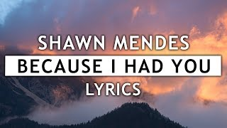 Shawn Mendes   Because I Had You (Lyrics)