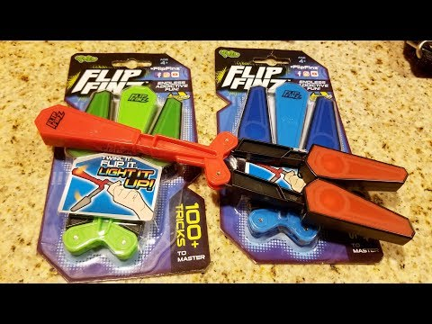 Flip Finz unboxing review and giveaway.  LED Balsiong Trainer.  Butterfly Knife Trainer Review.