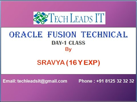 ORACLE CLOUD TECHNICAL ONLINE TRAINING DAY-1 CLASS ...