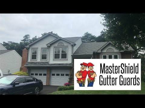 Installation of MasterShield gutter guards on two neighboring homes in Manassas, VA.