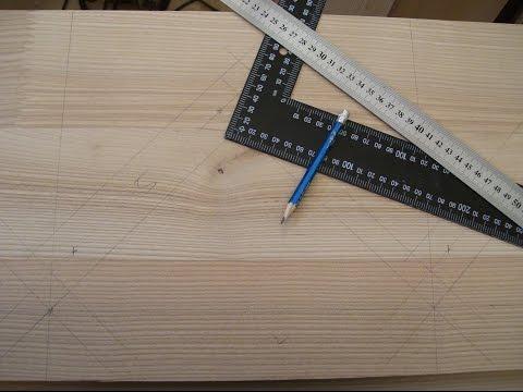 Часть 1 - разметка. Изготовление деревянной одномаршевой лестницы.