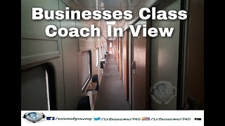 Business express train & business class coach view in cabin 2017
