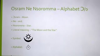 Adinkra Symbols, Pronunciation and Literal meaning