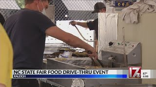 Many line up for NC State Fair food drive-thru event